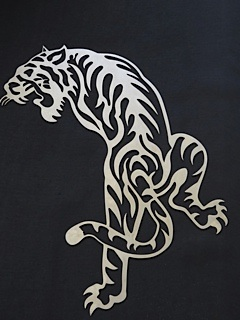 Stainless steel wall art Tiger