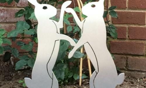 Garden Boxing Hares