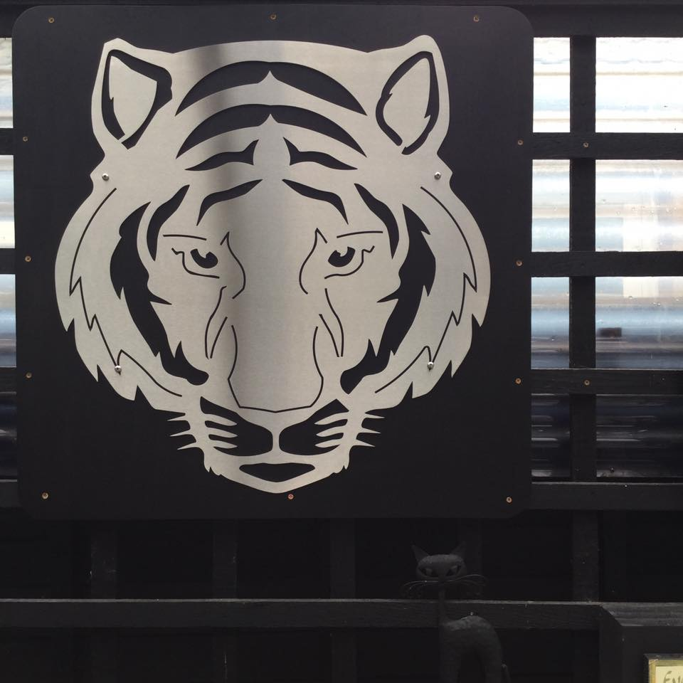 Stainless steel wall art Tigert